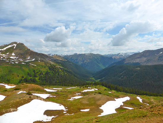 New York Creek Trail from the Continental Divide (12,273')